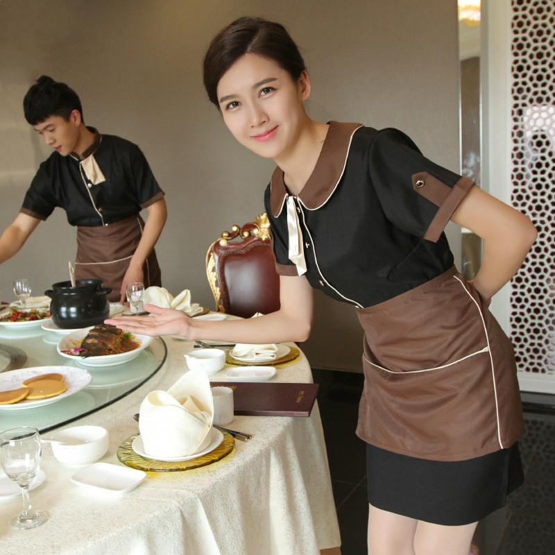 Wholesale Restaurant Uniform Restaurant Waiter Uniform Hotel Waiter Clothes Waiter Wear Waitress Uniform(China (Mainland))