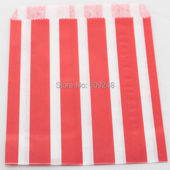 100pcs Mixed Colors Cheap Christmas Favor Red Paper Party Candy Buffet Bags Vertical Stripe,3 Days Delivery on Orders over $100(China (Mainland))