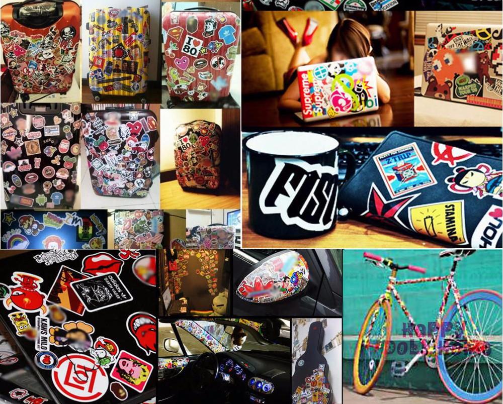 100 Pcs Waterproof Mixed DIY Motorcycle moto Bike Car Stickers Decal laptop luggage Skateboard Sticker car Styling Decal Sticker