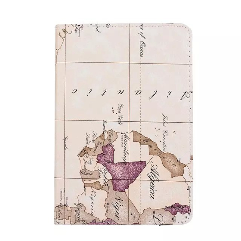 2016 New case for Apple ipad mini 4 world MAP print multifunction flip stand rotate PU leather cover tablet PC Cover shell coque(China (Mainland))