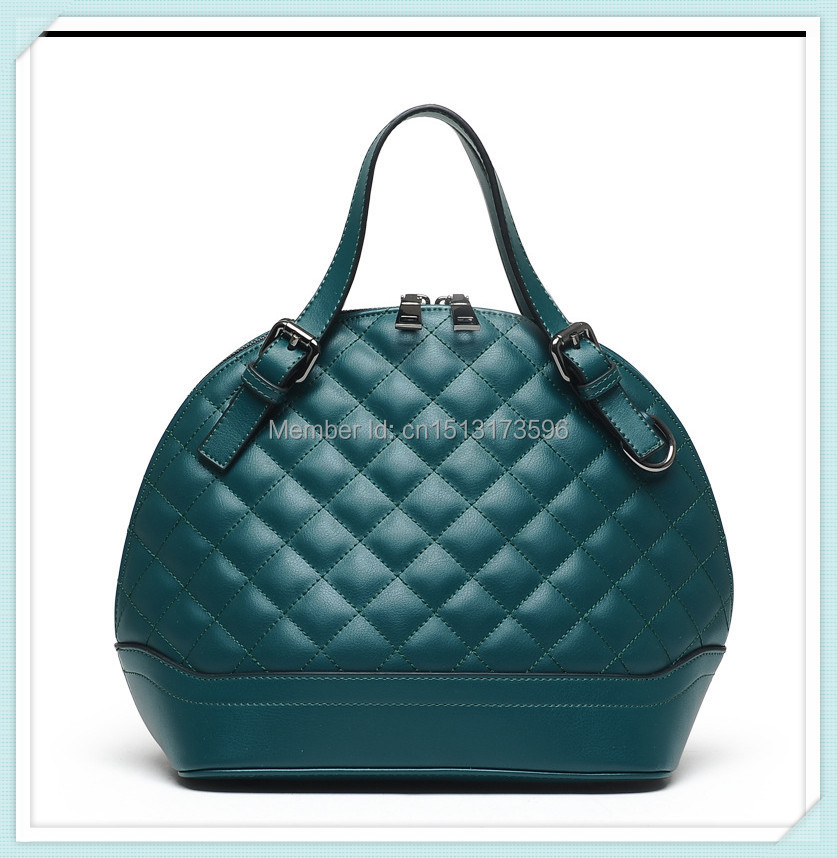 The new technology in Europe and America Quilted shell fabric handbags diagonal portable shoulder bag brand handbags(China (Mainland))