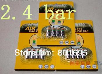 Free Fedex DHL shipping Car Tire Pressure Monitor Valve Stem Cap Sensor Indicator tire alarm Eye Alert with retail package