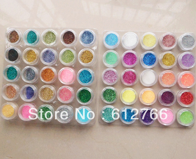 free shipping nail art  glitter powder  50mix colors/set