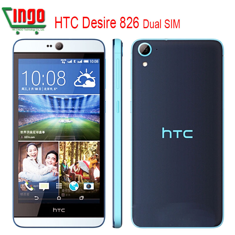 HTC Desire 826 Original Unlocked HTC 826W Dual SIM Dual 4G MobilePhone 13MP Camera QuadCore Android 5.0 Cell Phone Free Shipping(China (Mainland))