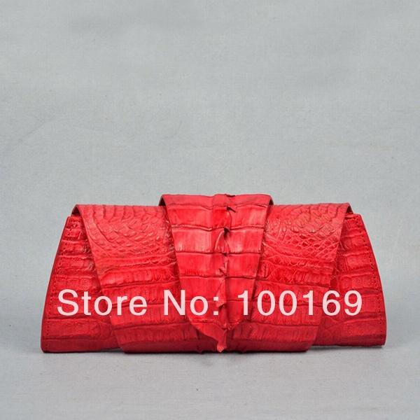 Crocodile clutch bag_crocodile skin bag_exotic handbag_ crocodile folder clutch bag(China (Mainland))