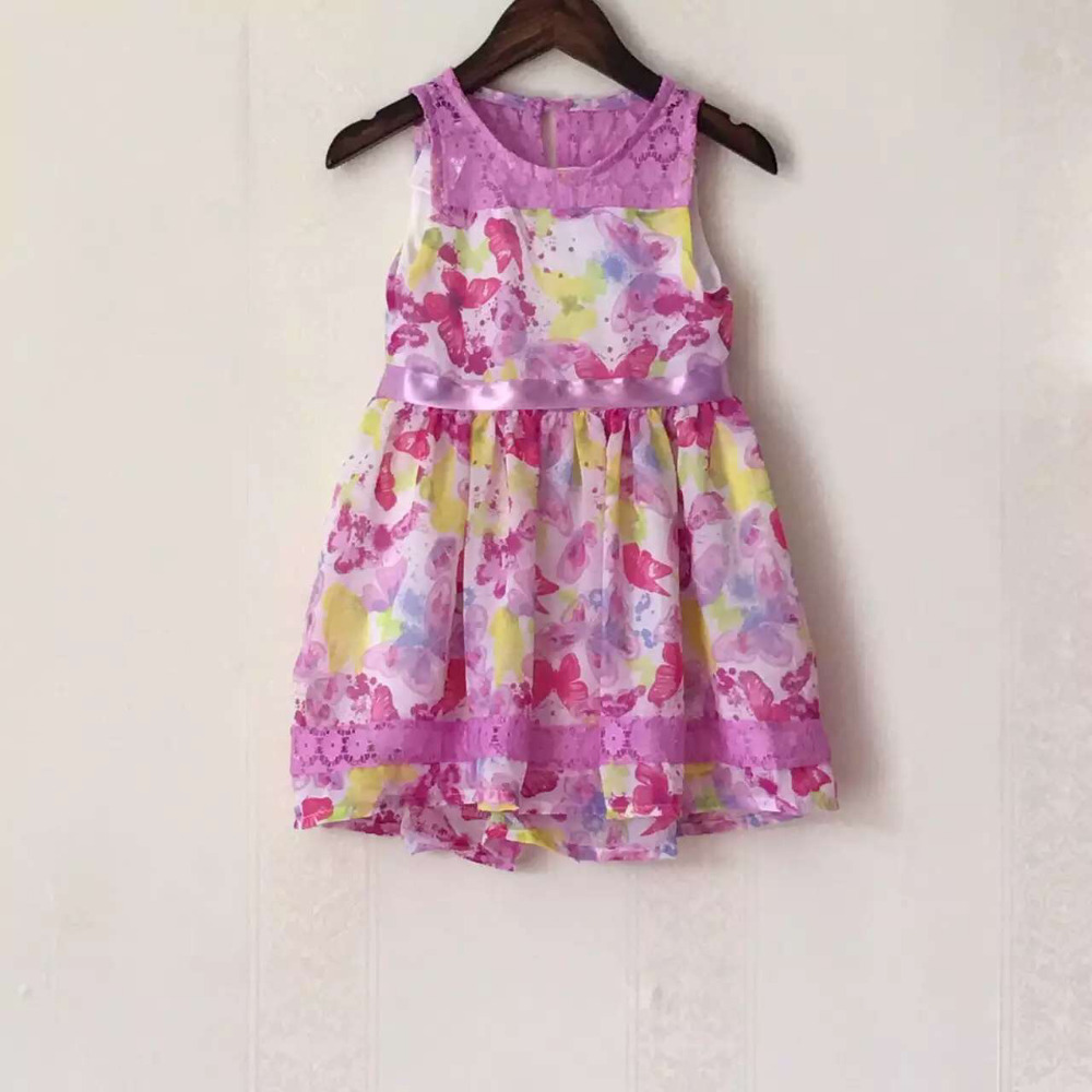 Nannette brand,10pcs/lot,3-6X yrs baby girls dress,chiffon dress,princess vest dress w/ ribbon belt,girls summer printing dress<br><br>Aliexpress