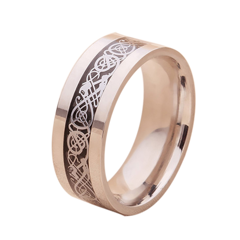 2016 New Fashion Silver Dragon Rings For Women Men Ring 316L Stainless Steel Jewelry Anel Bijoux Bague Femme USA Size 6 To 12(China (Mainland))