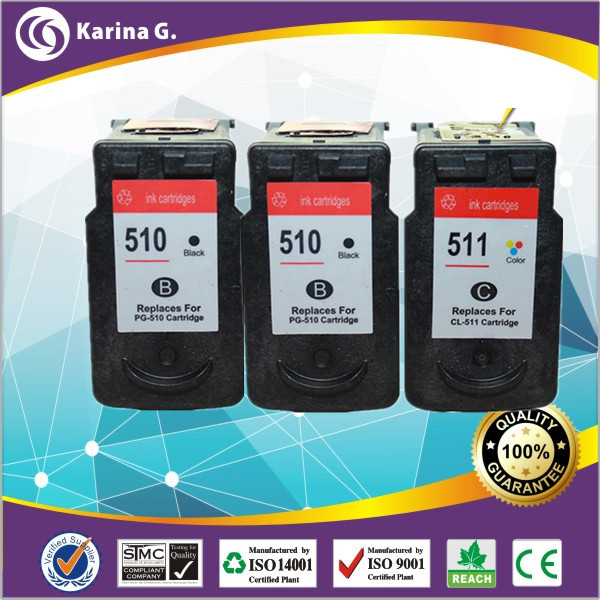 3pk 2bk+C chipped  full ink  for canon PG -510 CL-511 ink cartridges for Canon MP170 MP150 MP450 MP460 MP160 MP180 ip2200<br><br>Aliexpress