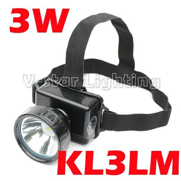 EMS Free Shipping!!  3W 3000mAh 150 lumens LED Headlamp for Camping Hiking Mining