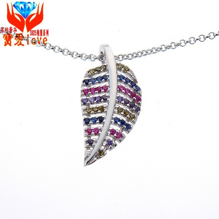 S925 sterling silver necklace pendant Jinzhiyuye manufacturers of high-grade silver jewelry wholesale silver jewelry jewelry pro(China (Mainland))