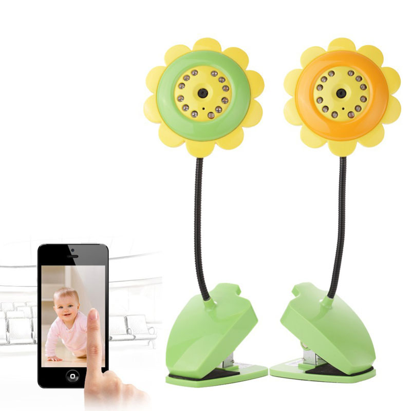 Wireless Baby Monitor Security Camera Flower Wifi Night Vision Camera for iPhone iPad Android<br><br>Aliexpress
