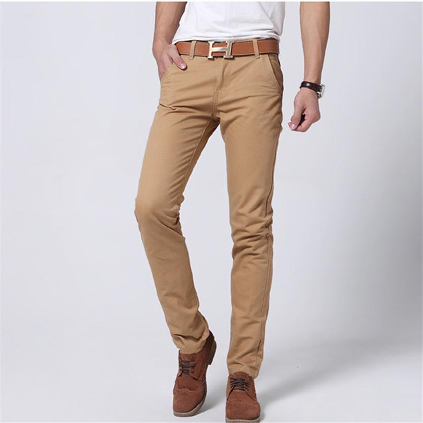 Fashion 2016 Men's Pants men Straight Casual trousers Cotton solid Classic hombre pantalones - Factory HangZhou store