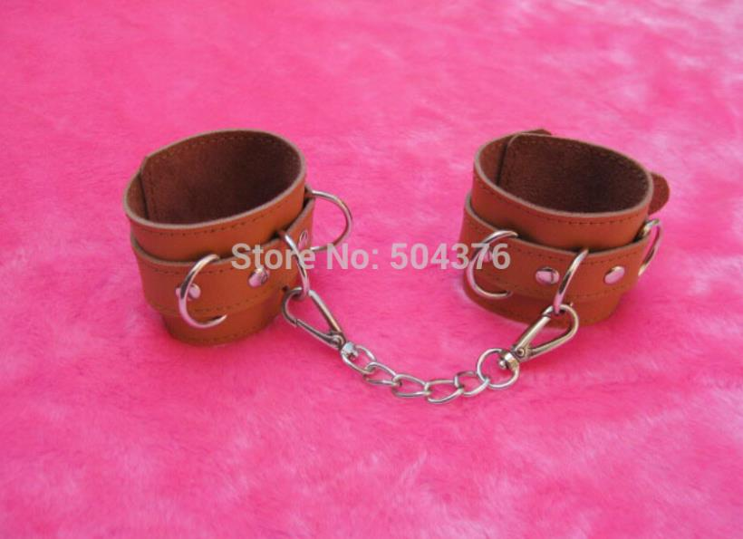 hand cuffs,real cow leather harness,fetish bandage,bed restraints,sex products,sex toys for couples,adult toys(China (Mainland))