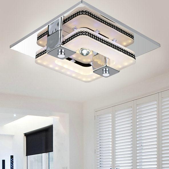 Led modern ceiling light plafon stainless steel luminaria for Sala novelty