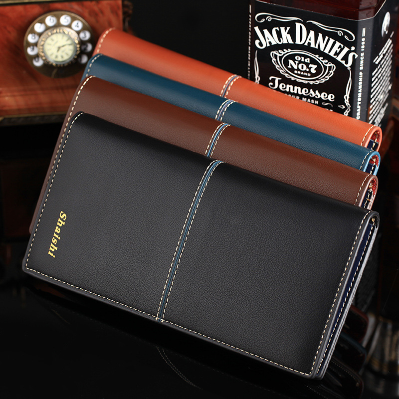 2015 Men's Genuine Cow Leather Wallet Fashion 4 Colors Purse Casual Hasp Wallets Men,Business Gifts - Friend World store