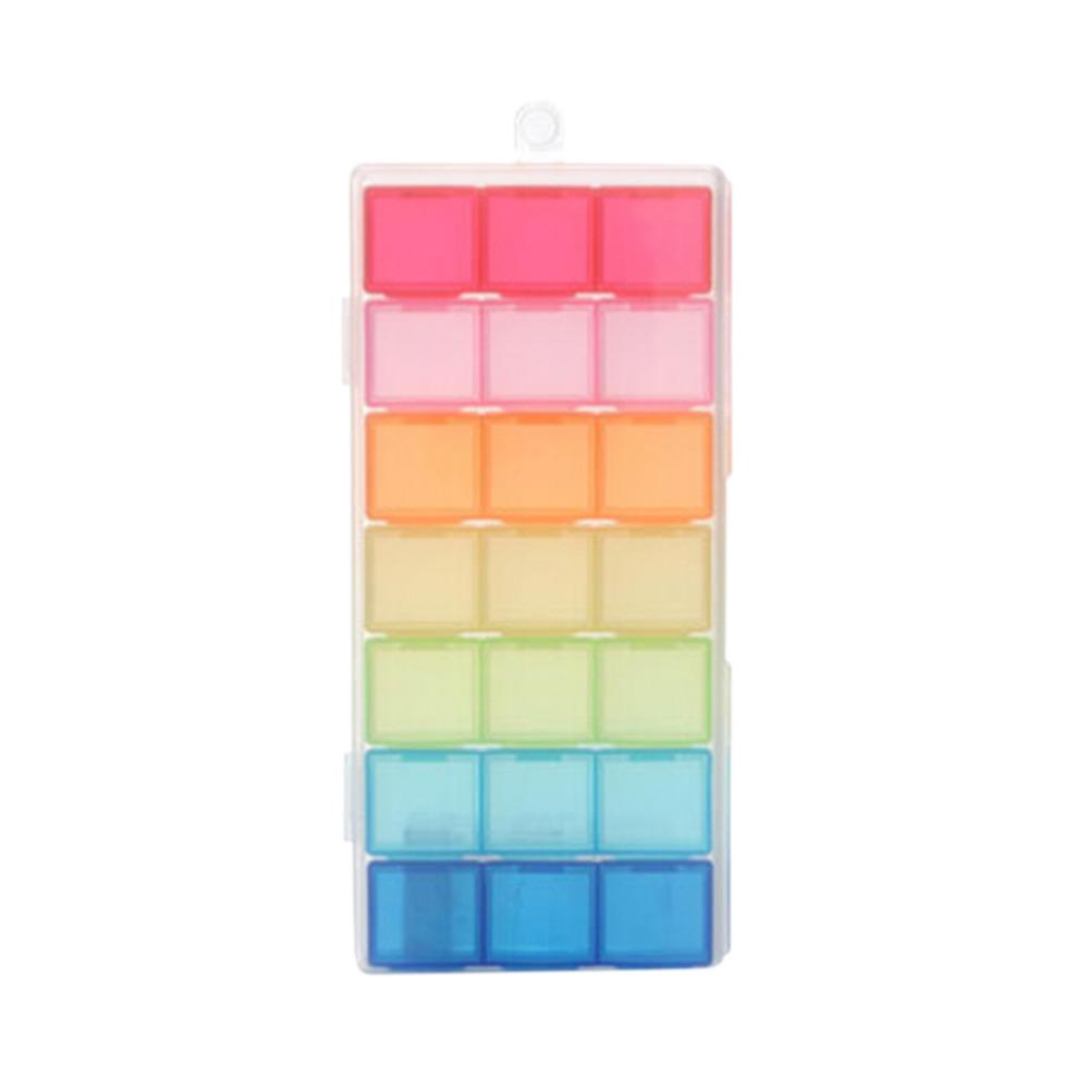21 Slots Medicine Pill Box Case Storage Dispenser Holder Organizer Colorful Boxes Cases(China (Mainland))