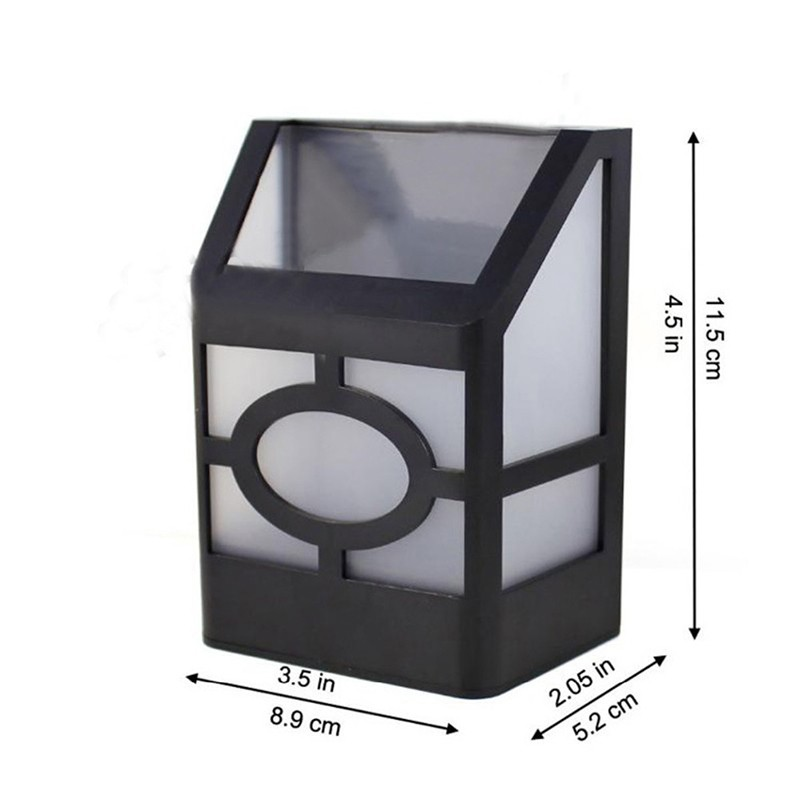 Outdoor Solar Power Light Sensor Fence Wall Exterior Lighting Garden Yard Path Lamp Cottage Style Solar Deck Accent Night Lights