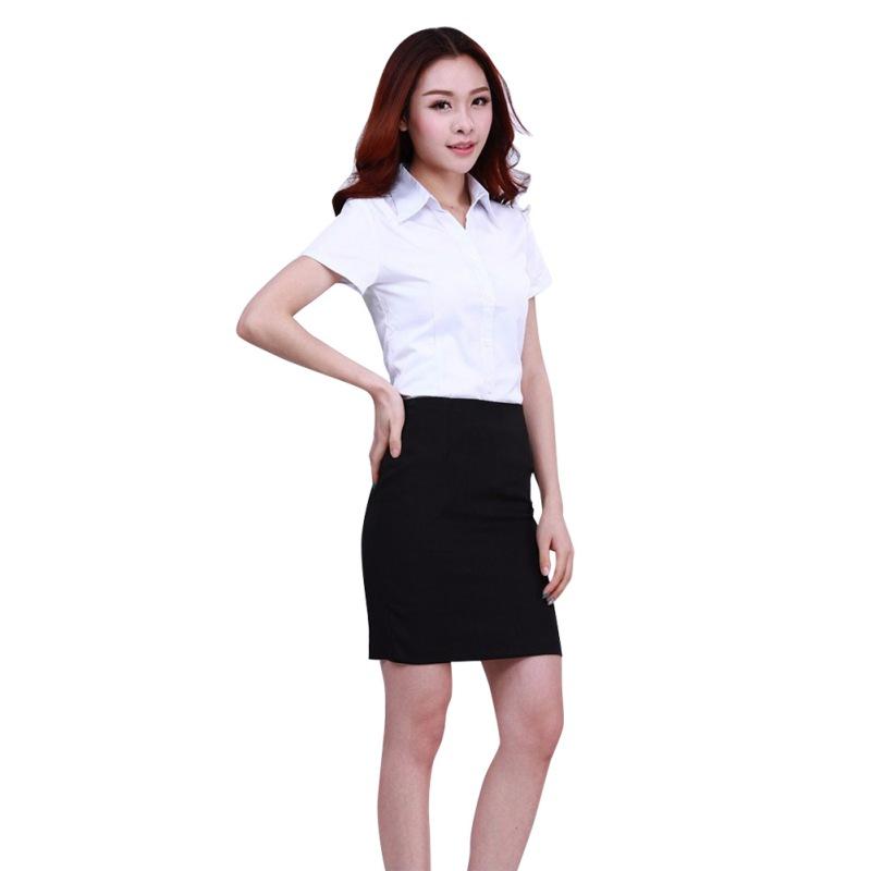 fashion new white shirt women\'s work wear sleeved blouses Slim Tops shirts women additionally(China (Mainland))