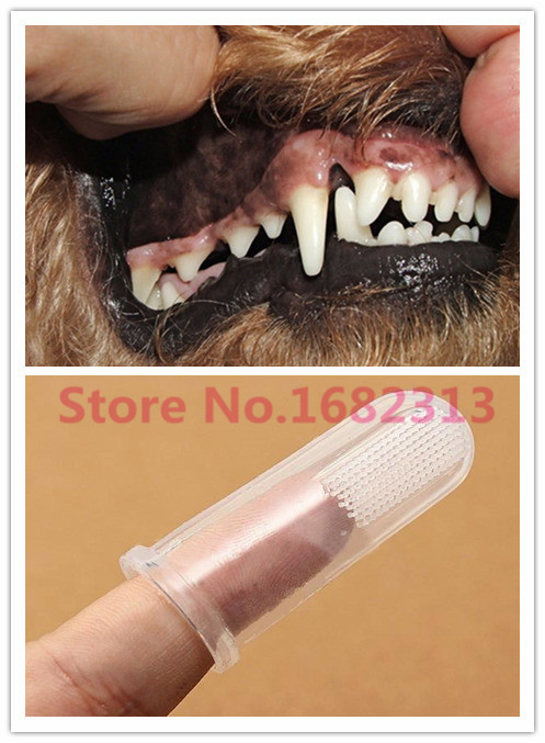 2015 Super Soft Pet Finger Toothbrush Teddy Dog Brush Addition Bad Breath Tartar Teeth Care Dog Cat Cleaning Supplies GH2(China (Mainland))