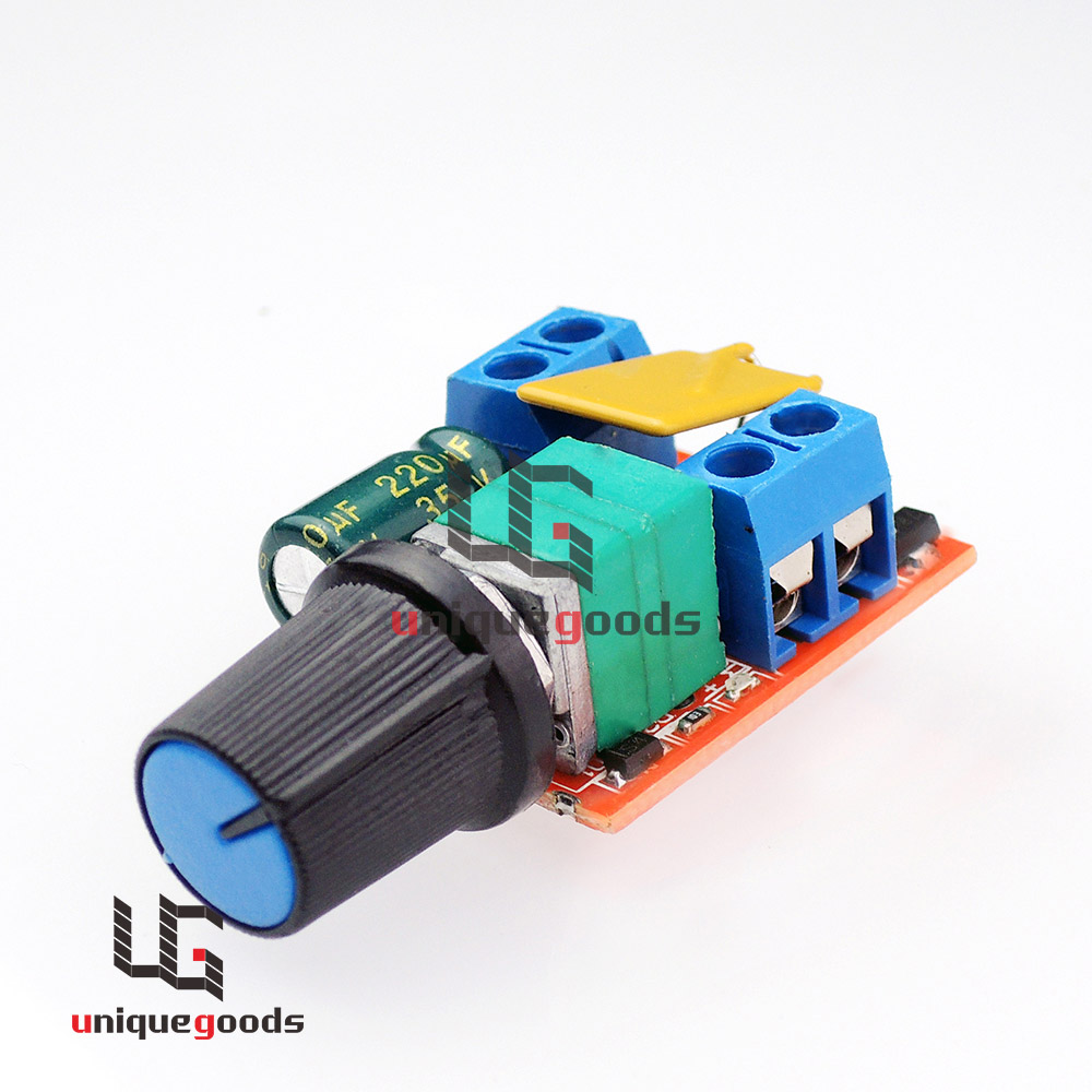 Mini dc 5a 3v 35v motor pwm speed controller speed control for Fan motor speed control switch