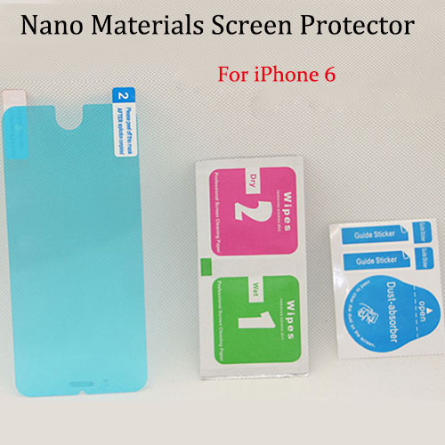 300pcs/lots High Clear Explosion proof Nano technology Screen Protector Film For iphone 6 4.7 inch without retail package(China (Mainland))