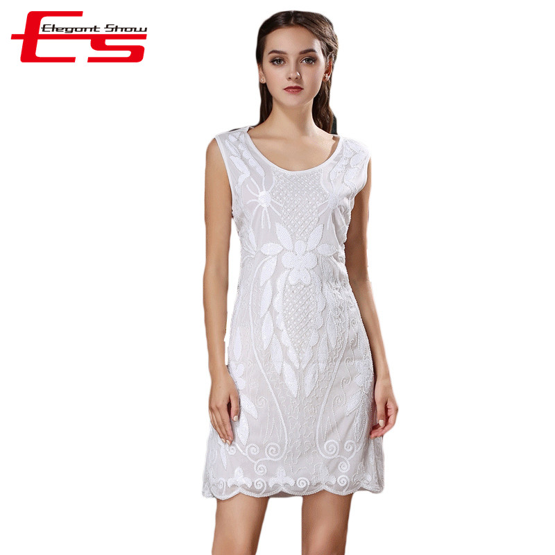 European Summer 2016 Fashion A-Line Tank Paillette Party Dress Women Sleeveless Sequin Sexy Club Dresses Femme Vestidos(China (Mainland))