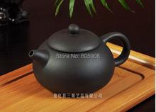 7 pcs Travel Ceramic Teapot Set With Green Gift Bag 1 Teapot 2 Cups 10g Black