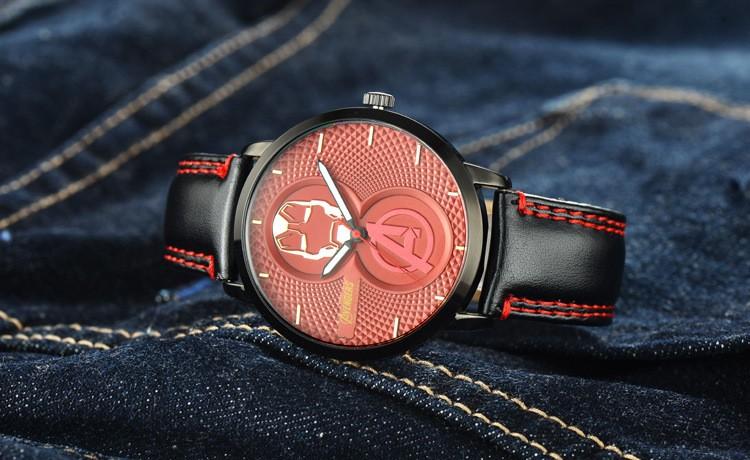 Дисней Дети бренд 30 м водонепроницаемый Мальчик кварцевые часы дети часы железный Человек Капитан Америка 3 Мультфильм анимация Мстители