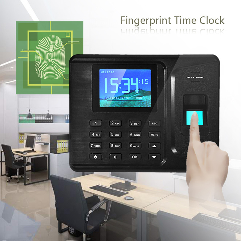 Muti-functional Biometric Fingerprint Attendance Time Clock Password and ID card withTCP/IP for Office Factory Free Shipping(China (Mainland))