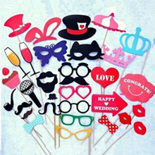 1 Set Fun Photo Booth Prop Lip Colorful Card On A Stick Wedding Decoration Favor Free Shipping(China (Mainland))