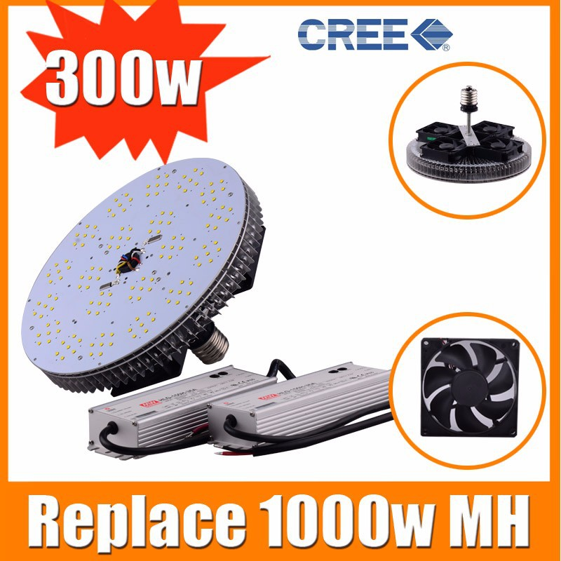 Free shipping 110v 120V ETL listed E26 E39 300w Retrofit kits for 1000w Metal Halid replacement(China (Mainland))