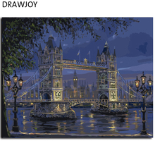 DIY Frameless Europe Landscape Painting By Numbers Canvas Oil Painting Home Decoration For Living Room GX7846 40*50cm Wall Art(China (Mainland))