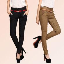 2015Fashion Women's Pants slim spliced printed elastic pencil pants harem trousers elegance pants XM3042 Drop shipping(China (Mainland))