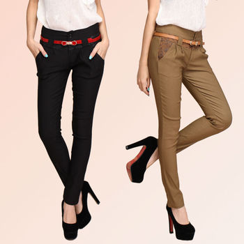 2015Fashion Women's Pants slim spliced printed elastic pencil pants harem trousers elegance pants XM3042 Drop shipping