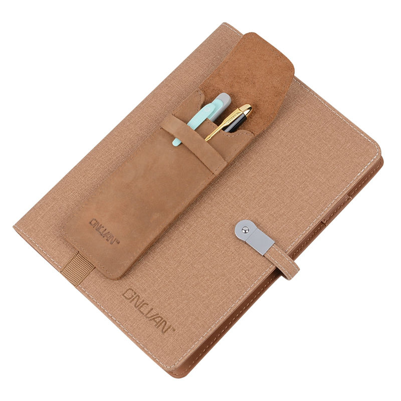 Genuine Leather Pen Case Brown Color Pencil Bags Business Pen Holder Office Supply School Accessories Wholesale Retail(China (Mainland))