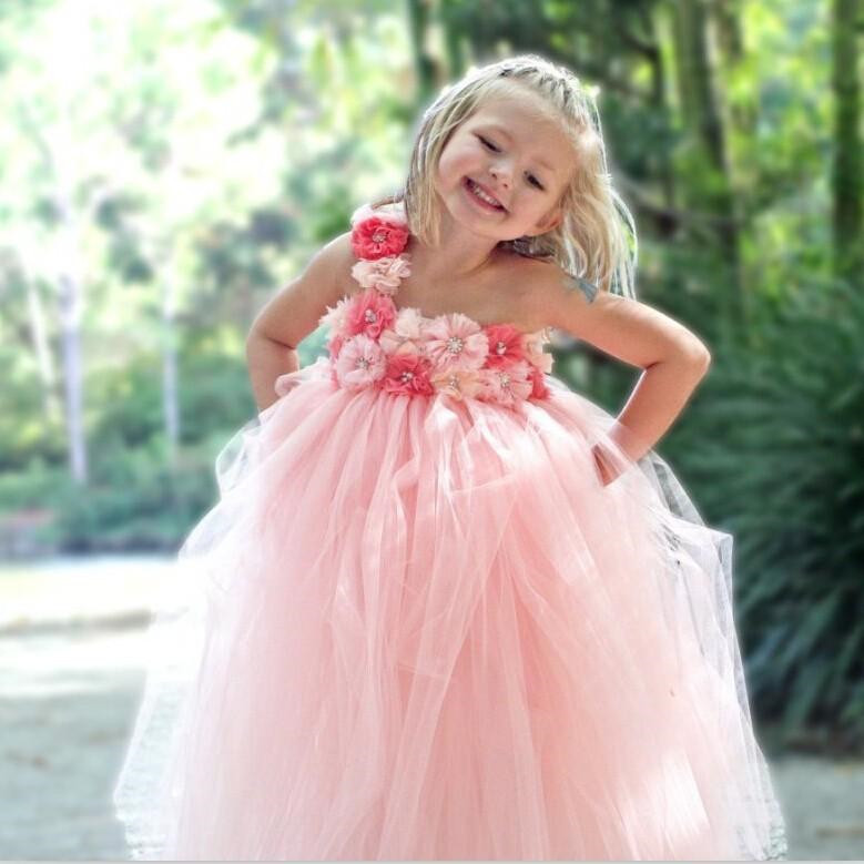 High Quality Peach Flower Girl Dresses Promotion-Shop for High ...