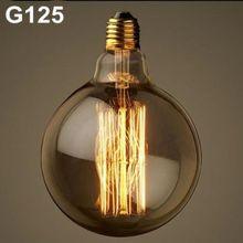 220V Incandescent Vintage Bulb E27 40W Retro Edison Style Light Bulbs G125 tungsten lamp Wholesale Price(China (Mainland))