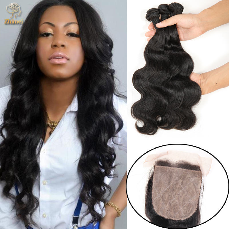 Здесь можно купить  Xuchang t Hair Virgin Peruvian Body Wave 4 Bundles With Silk Base Closure Unprocessed  Peruvian Body Wave With Lace Closure   Волосы и аксессуары