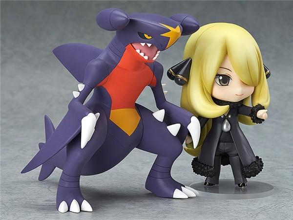 Hot 10CM Pokemon Action Figure Toy Anime Nendoroid Pokemon Figures Cynthia Garchomp Collectible Model Children Toys