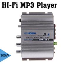 SUOER 12V 300W Multifunction Stereo Car Audio Power Amplifier Hi-Fi MP3 Player Car Amplifier Radio Music Speaker(China (Mainland))