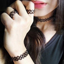 Drop Shipping Vintage Punk Style Stretch Elastic Tattoo Choker Necklace Retro Gothic Jewelry Gifts(China (Mainland))