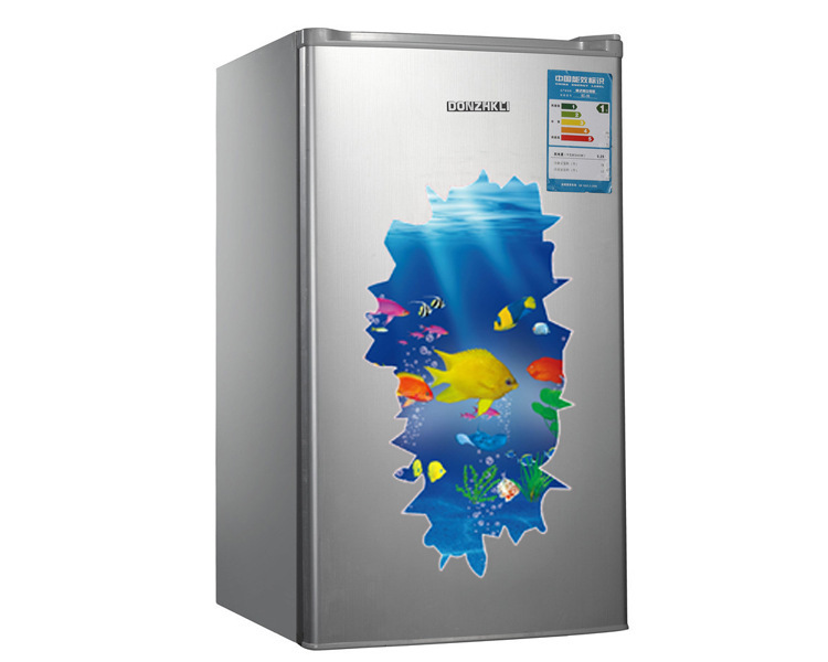 3d Stereo Creative Ocean Fish Kids Room / Refrigerator / Washer/ Chest Wall Sticker Removable 30*90 CM(China (Mainland))