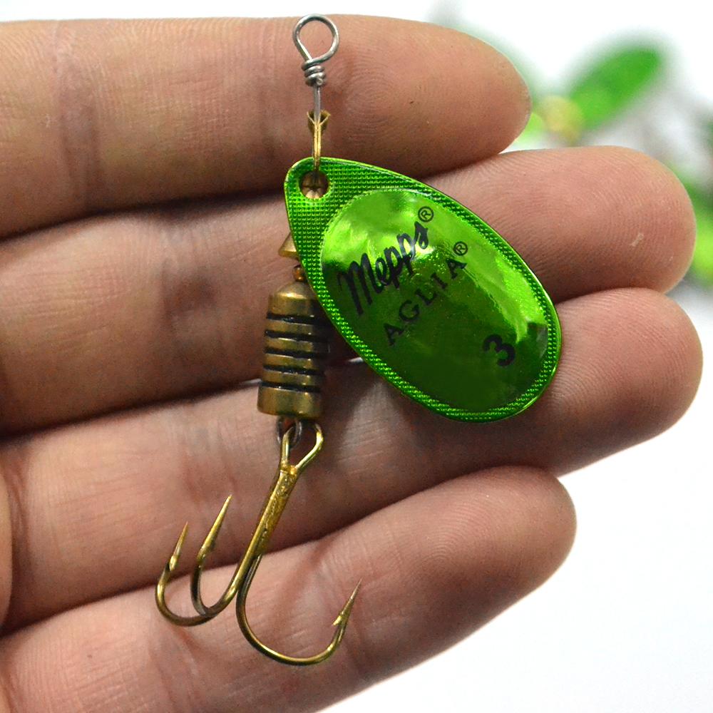 24 PCS/Lot Size3 Green Fishing Lure Pesca Mepps Aglia Hard Lure Isca Artificia Fishing Tackle Fish Accessories Vissen Peche<br><br>Aliexpress