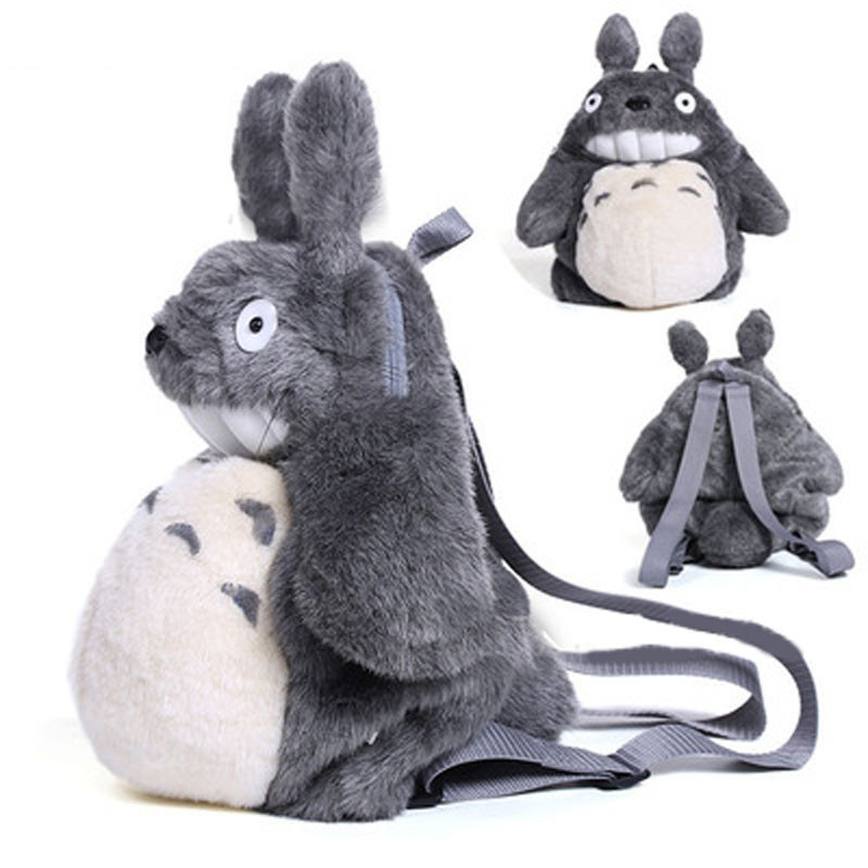 large size totoro plush backpack kids Doll toys bag animal Kindergarten school bag Gift For Kids Mochila Infantil(China (Mainland))