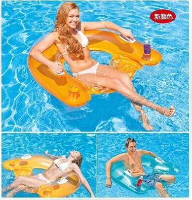 152*99CM Sitting floating row inflatable water floating bed sand beach Inflatable cushion mat lounger water fun play kids adult(China (Mainland))