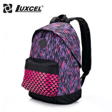 Luxcel Backpack For Student Teenager School BackPack Casual Daypacks women kid's sport school bag w/ print(China (Mainland))
