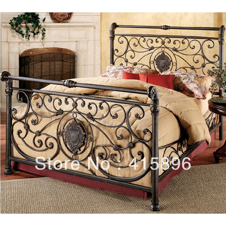 wrought iron bed frame china manufacturer factory design(China (Mainland))
