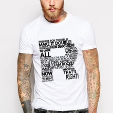 Make It Trouble T Shirts Men by American Apparel O Neck Short Sleeve Mens t shirt Tees Tops Free Shipping