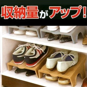 Diy finishing shoe hanger leather boots double layer storage rack storage sorting shoe hanger