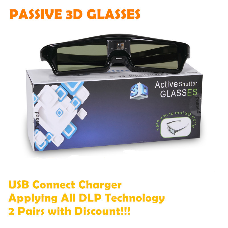 2014 New Free Shipping USB Charger Connect Passive Shutter 3D Glasses(China (Mainland))